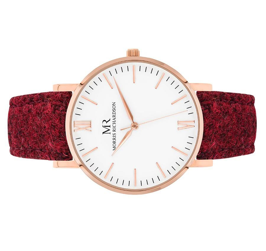 Womens Belton Classic Rose Gold 36mm Harris Tweed Watch – Morris Richardson