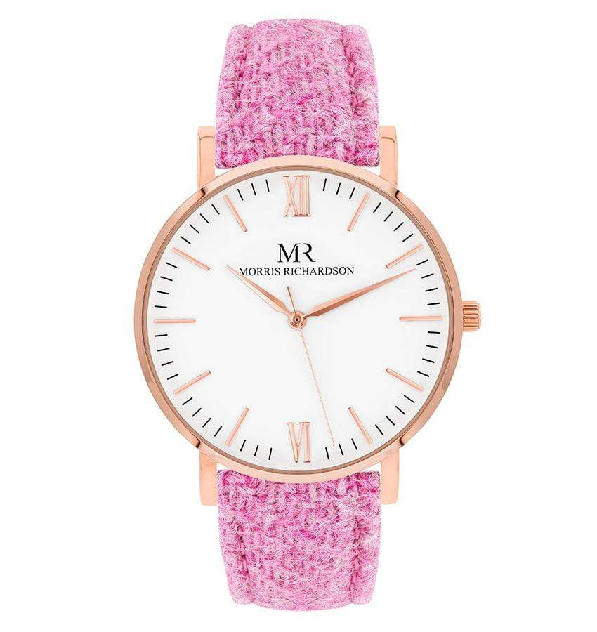 Womens Belvoir Classic Rose Gold 36mm Harris Tweed Watch – Morris Richardson