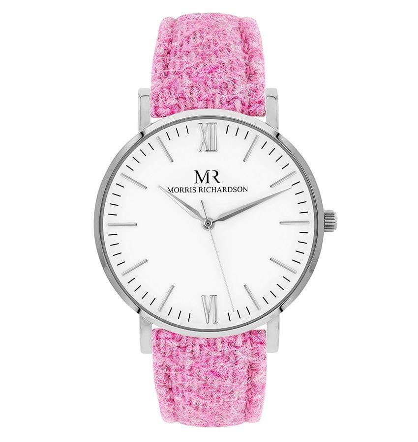 Womens Belvoir Classic Silver 36mm Harris Tweed Watch – Morris Richardson