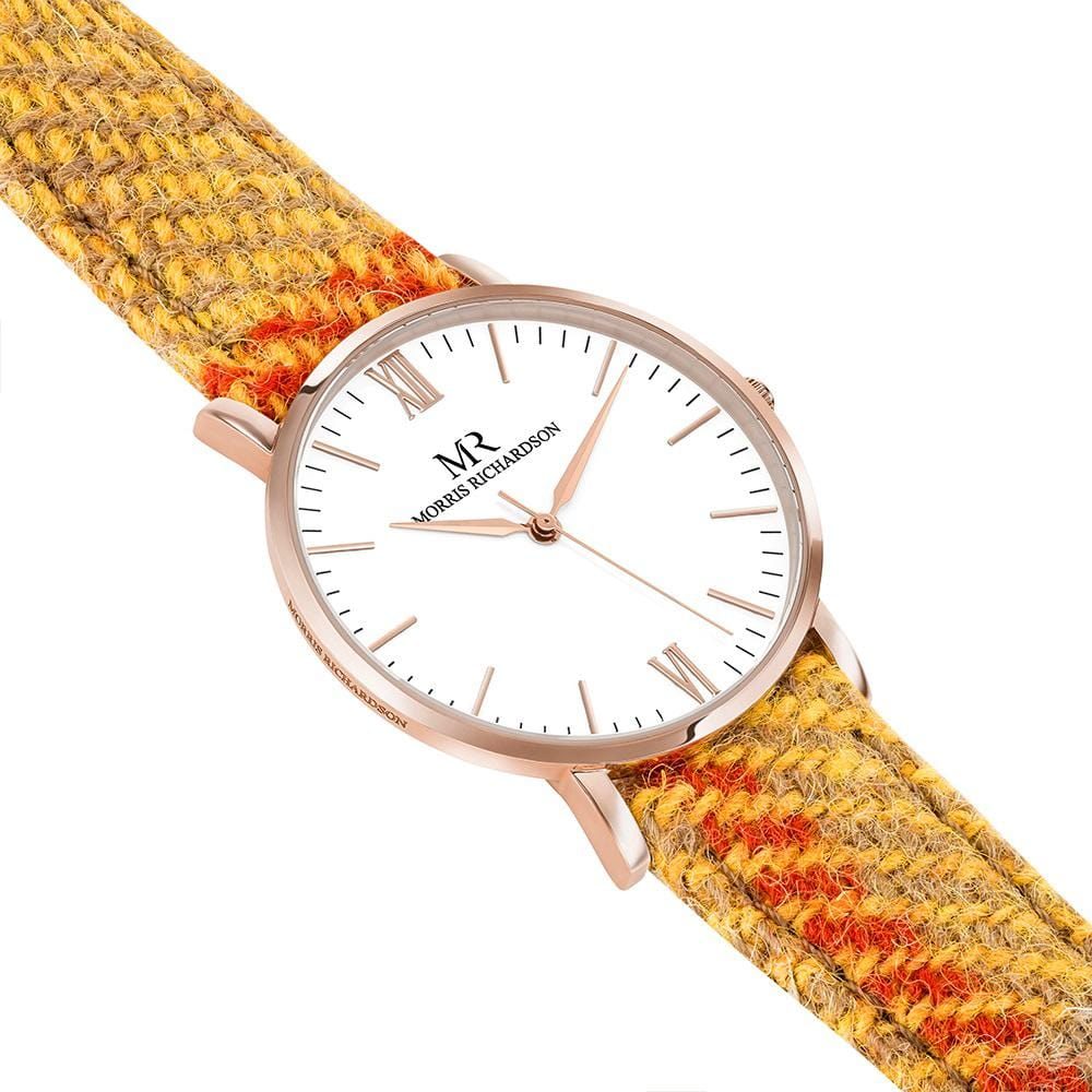 Blenheim Watch Harris Tweed 36mm Rose Gold – Morris Richardson