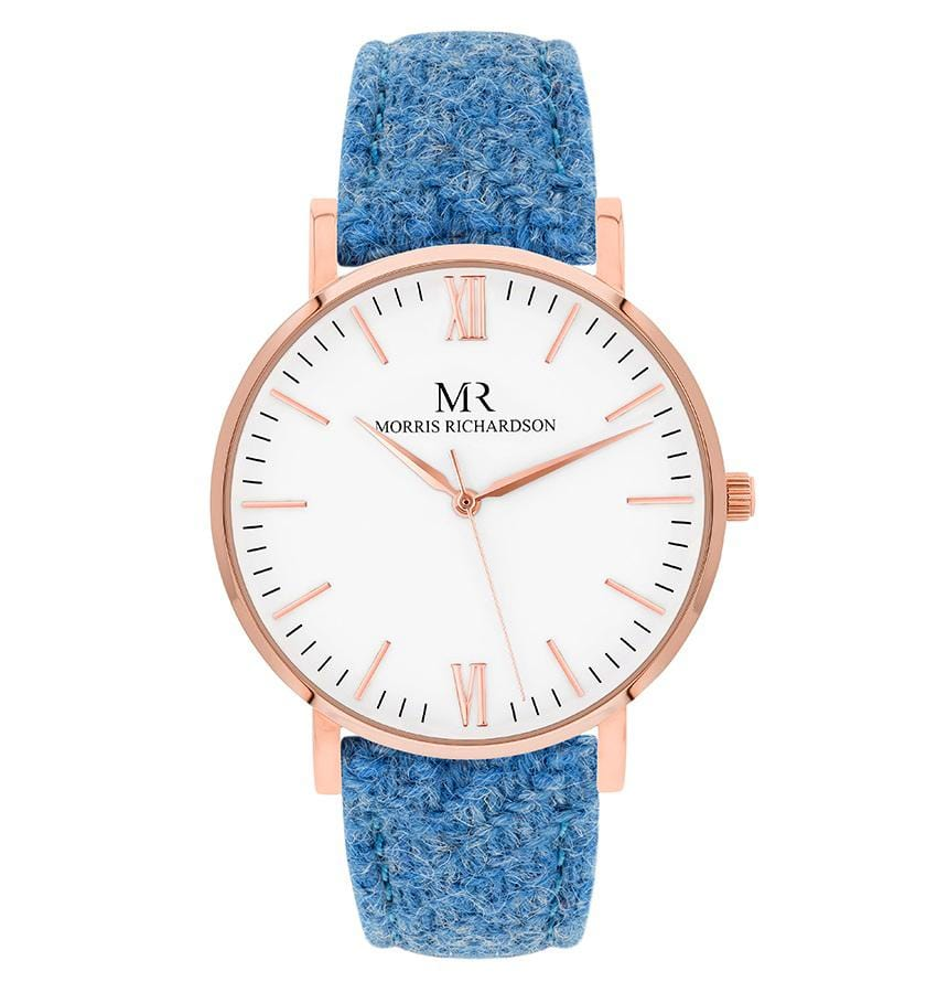 Womens Bramham Classic Rose Gold 36mm Harris Tweed Watch – Morris Richardson