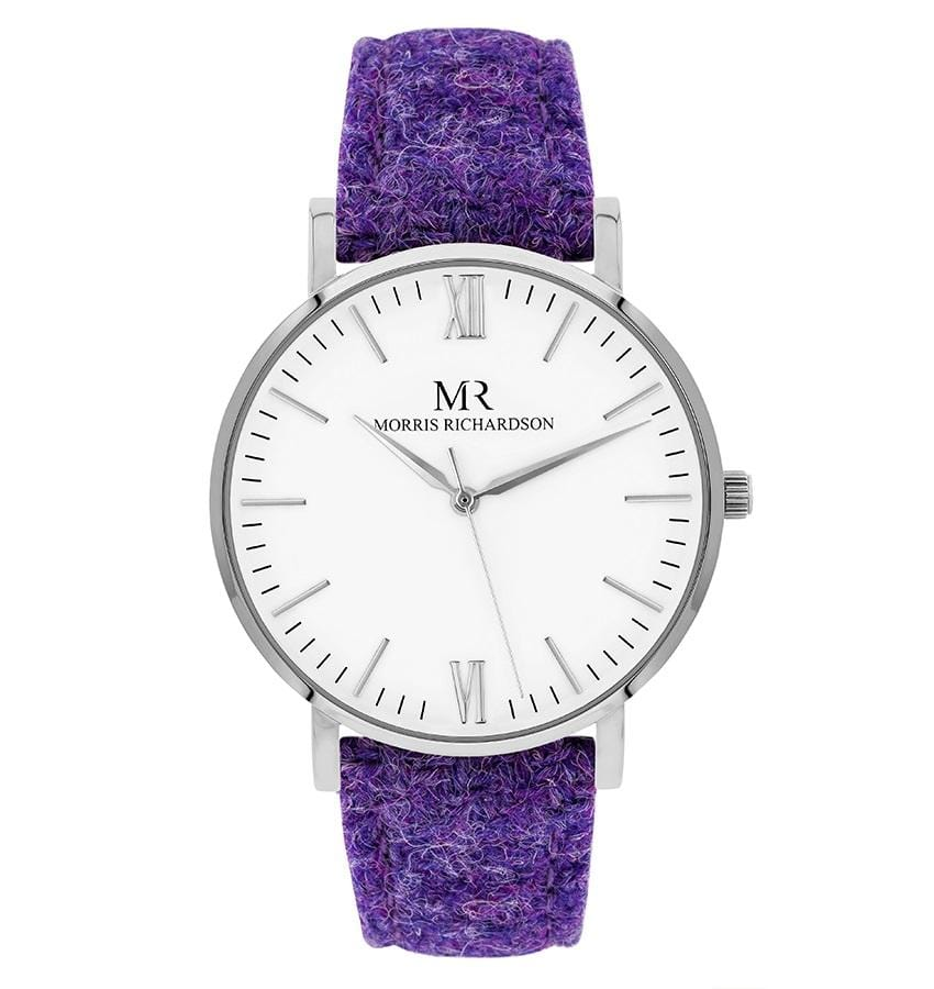 Womens Burghley Classic Silver 36mm Harris Tweed Watch – Morris Richardson