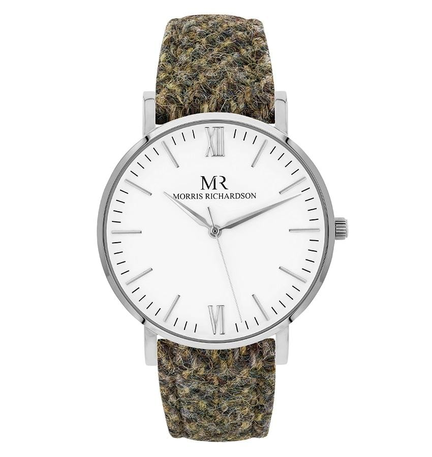Womens Chatsworth Classic Silver 36mm Harris Tweed Watch – Morris Richardson