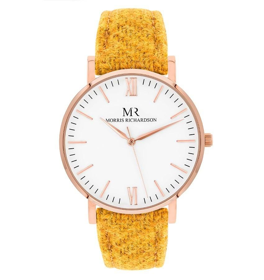 Womens Hatfield Classic Rose Gold 36mm Harris Tweed Watch – Morris Richardson