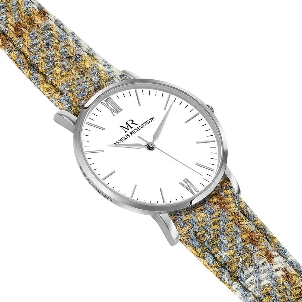 Womens Highclere Classic Silver 36mm Harris Tweed Watch – Morris Richardson