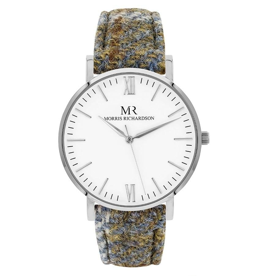 Highclere Watch Harris Tweed 36mm Silver – Morris Richardson