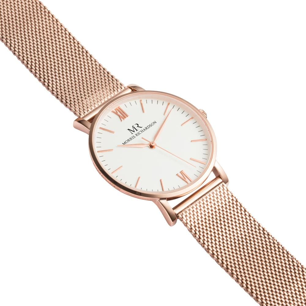 Womens Holkham Classic Rose Gold 36mm Milanese Mesh Watch – Morris Richardson