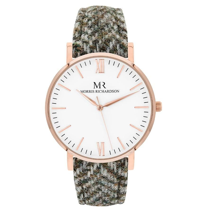 Womens Howard Classic Rose Gold 36mm Harris Tweed Watch – Morris Richardson