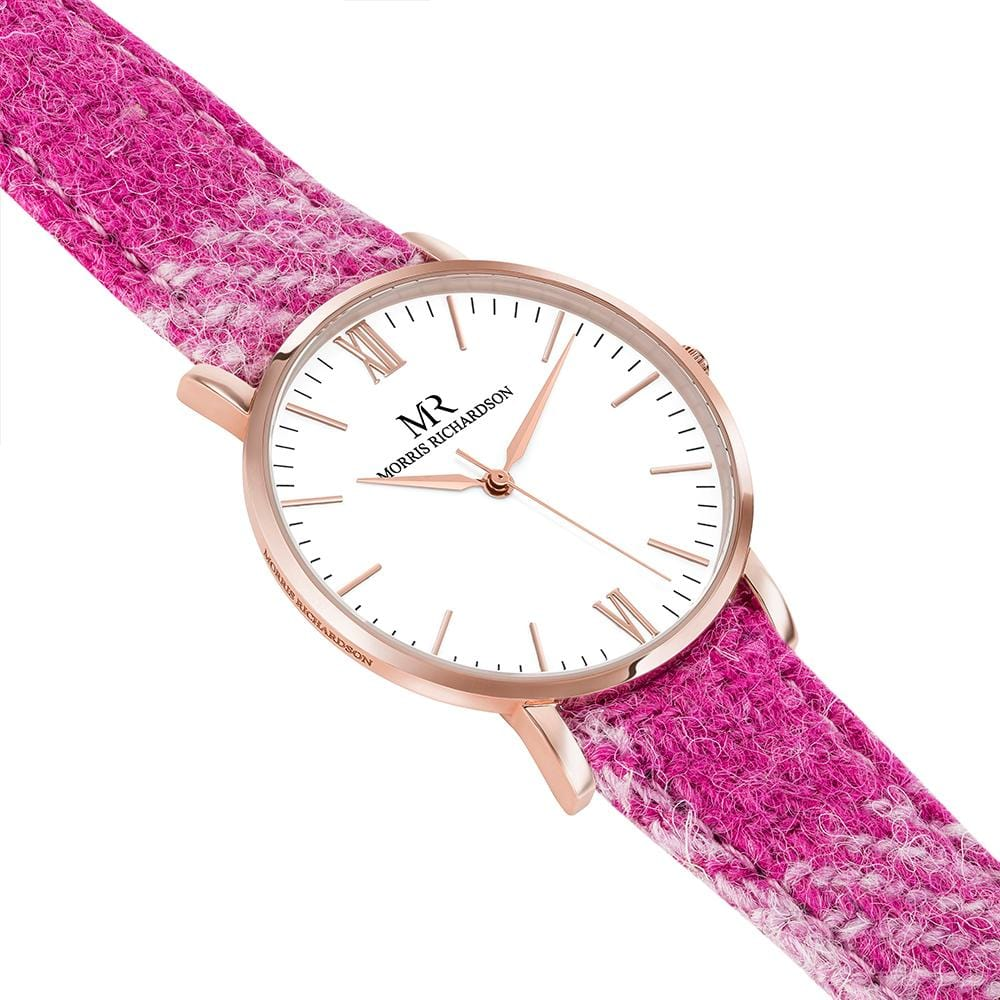 Womens Kedleston Classic Rose Gold 36mm Harris Tweed Watch – Morris Richardson