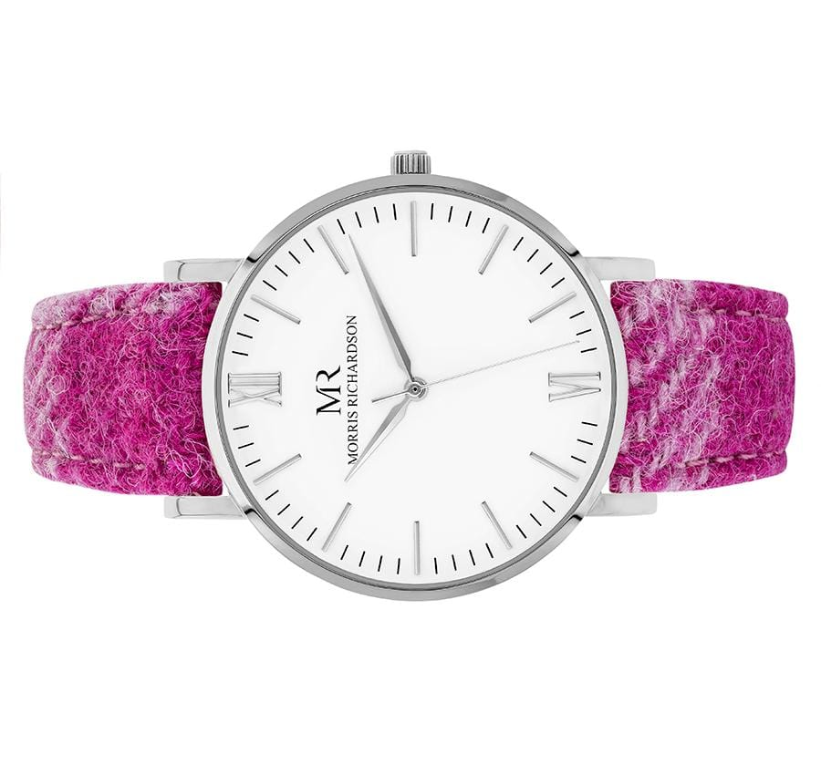 Womens Kedleston Classic Silver 36mm Harris Tweed Watch – Morris Richardson