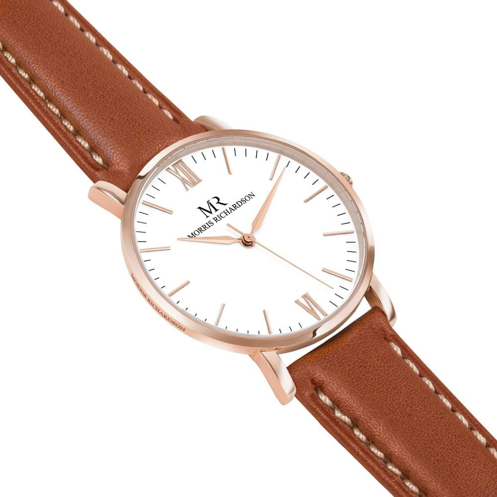 Osborne Watch Leather 36mm Rose Gold – Morris Richardson