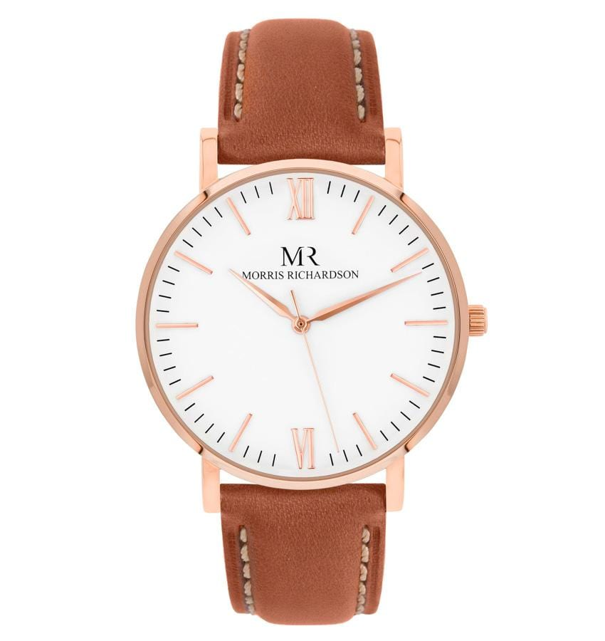 Womens Osborne Classic Rose Gold 36mm Leather Watch – Morris Richardson