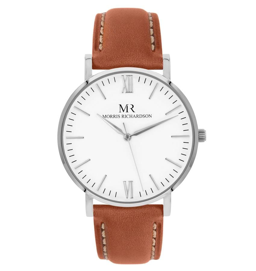 Womens Osborne Classic Silver 36mm Leather Watch – Morris Richardson