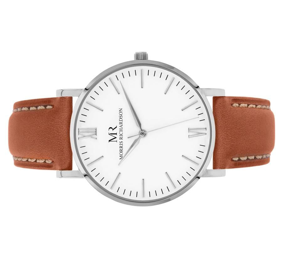 Osborne Watch Leather 36mm Silver – Morris Richardson