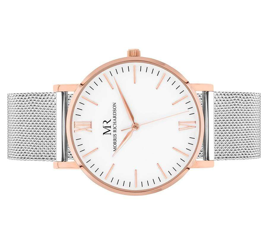 Womens Wentworth Classic Rose Gold 36mm Milanese Mesh Watch – Morris Richardson