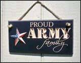 Proud Air Force Family Carved Sign - Simply Said Signs