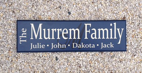 Family Name Sign with First Names - Simply Said Signs
