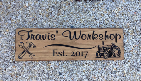 Carved Workshop Sign - Simply Said Signs