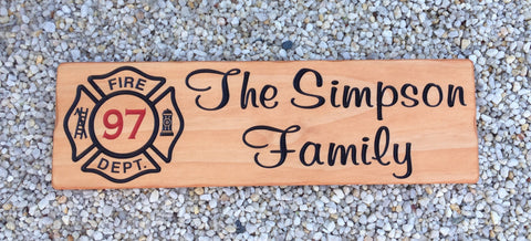 Firefighter Camp Sign - Simply Said Signs