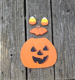 Halloween Pumpkin Welcome Bear Outfit - Simply Said Signs