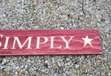 Live Simply Carve Wood Sign - Simply Said Signs