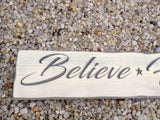 Believe Hope Dream Carved Wood Sign - Simply Said Signs