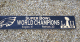 "Philadelphia Eagles Super Bowl Champions Carved Wood Sign 32"" Black - Simply Said Signs"