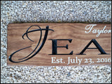 Personalized Last Name Sign ~ Wedding Sign ~ Carved Wood Signs ~ Jean Design - Simply Said Signs