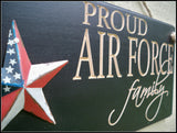 Air Force Sign Carved