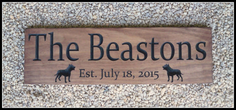 Family Name Sign ~ Carved Woo Sign ~ Established Sign ~ Beaston Design - Simply Said Signs