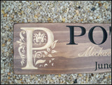 Engraved family name sign ~ custom wood signs - Simply Said Signs