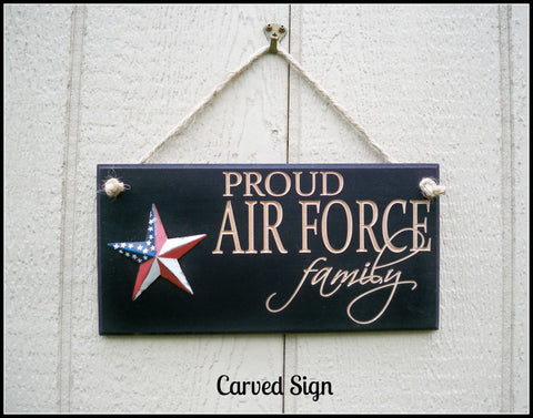 Air Force Sign Engraved