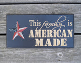 Carved American Made Sign with American Flag Star - Simply Said Signs