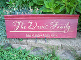 Personalized Family Name Sign ~ Design B - Simply Said Signs