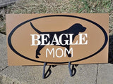Sign, Beagle Art, Beagle Mom - Simply Said Signs