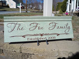 Personalized Rustic Family Name Sign ~ Design A - Simply Said Signs