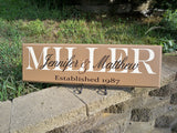 Established Sign ~ Last Name Sign ~ Family Name Sign ~ Family Sign - Simply Said Signs