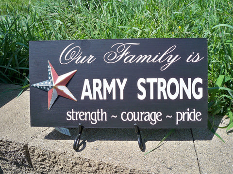 Army Strong Sign with patriotic star - Simply Said Signs