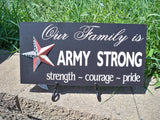 Army strong sign with star