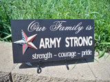 Army strong family sign