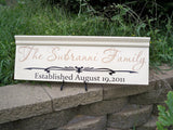 Custom Family Name Sign with Top Accent - Simply Said Signs