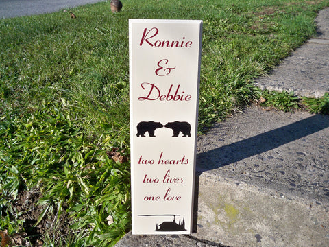 Personalized Couple Name Sign - Simply Said Signs