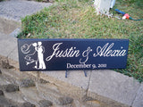 Personalized Bride and Groom Wedding Reception Sign - Design B - Simply Said Signs