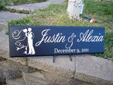 Personalized Wedding Sign, Name Sign, Custom Name Sign, Bride and Groom, Wedding Date, Personalized Name Sign, Wedding Reception Sign - Simply Said Signs