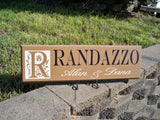 Monogram Name Sign ~ Personalized Family Name Sign ~ Personalized Monogram Sign ~  Randazzo Design - Simply Said Signs