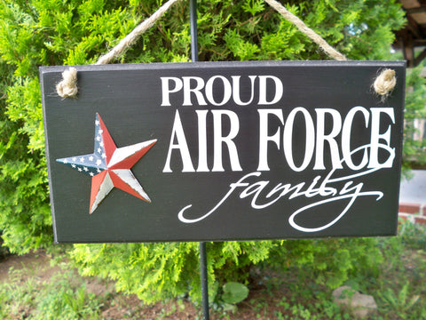 Proud Air Force Family Sign With American Star Simply