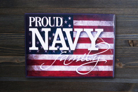 Navy Magnet, American Flag - Simply Said Signs