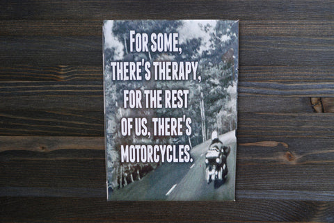 Motorcyle Therapy Magnet - Simply Said Signs