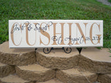 Personalized Wedding Name Sign ~ Design A - Simply Said Signs