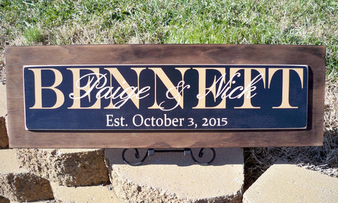 Personalized Family Name Sign ~ Family Name Signs ~ Wood Name Sign - Simply Said Signs